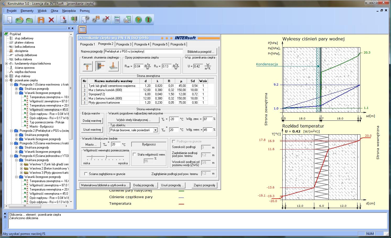 Obliczanie współczynnika przenikania ciepła kalkulator